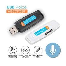 USB 2.0 Digital Voice Recorder Pen Ultra Thin Mini Portable Voice Recorder Support win98 Flash Drive Mini Audio Recorder(No TF)