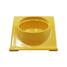 Pet dog Feeder bowl melamine cat Household Durable food water stainless steel bowls with not slipped stand feeding