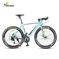 新しいブランドロードバイク14スピードは700ccホイールアルミ合金フレーム破る風レーシング自転車軽量bicicleta