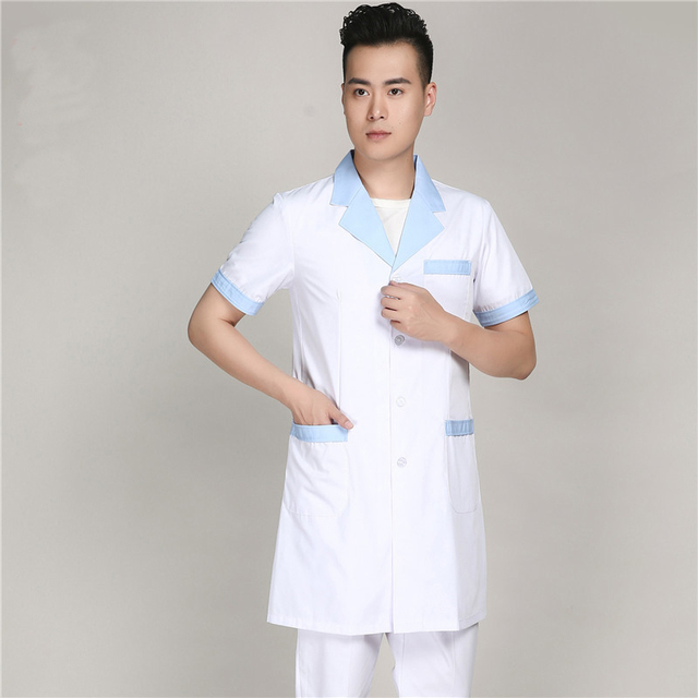 2017 New Arrival Summer Men Short Sleeve Lab Coat Medical Gowns ...