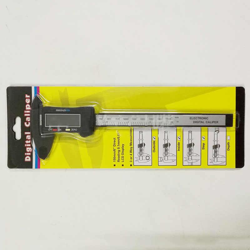 150mm 6 pouces LCD numérique électronique en Fiber de carbone Vernier étrier jauge micromètre outil de mesure QST008 règle pachymètre