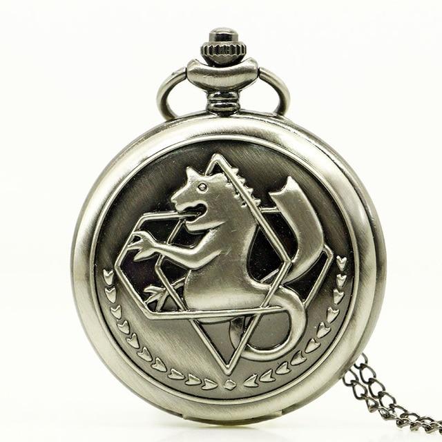 Retro Fullmetal Alchemist 5 Colors Horse Quartz Pocket ...