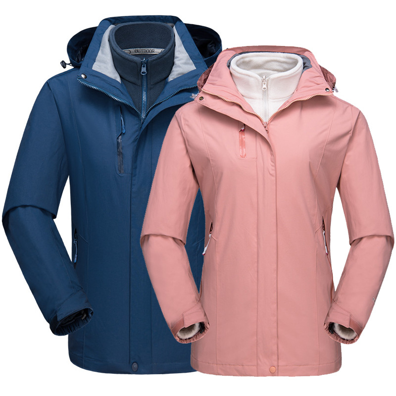 Women s Winter 3 In 1 Windbreaker Outdoor Hiking Jacket Women Waterproof  Coat Camping Trekking Ski Fleece Jackets 7b5c4169a54e