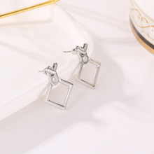 Creative Minimalist Geometric Earrings For Women Fashion Simple Metal Triangle Square Girl Earing Female Jewelry Accessories