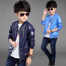 Boy's coat in the spring and autumn 2016 new children's wear children thin handsome jacket cuhk TongBaoBao coat South Korean sty