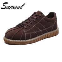 High Quality Lace Up Low Top Casual Shoes Flats 2018 Spring Fashion Business Shoes Leather Shoes