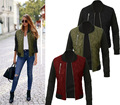 2017 New Winter Fashion Color Zipper Clip Cotton Jacket Women Jackets Warm Coat Outerwear Tops 3 Colors S M L XL 2XL 3XL