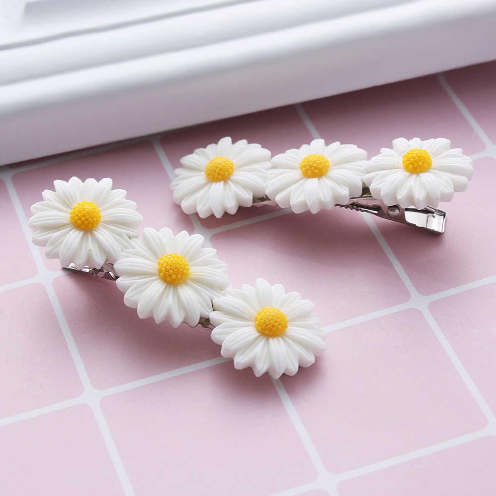เด็ก Mini Sweet Daisy ดอกไม้คลิปผมแหวนเชือกยืดหยุ่นวง HairPins หางม้าสาวเด็กแฟชั่น Hairband อุปกรณ์เสริมผม