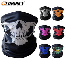 3D Skull Seamless Magic Neck Gaiter Face Mask Cover Shield Cycling Hiking Tactical Paintball Bandana Headband Scarf Men Women(China)