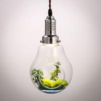 American Creative glass bulb plant vase plants restaurant decoration lighting lamp Pendant Lights personality za FG396
