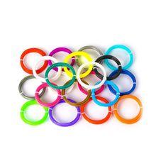 5 м 20 шт цветная 3D Ручка для печати и рисования ABS нить 1,75 мм пластиковый принтер инструмент безопасности без загрязнения