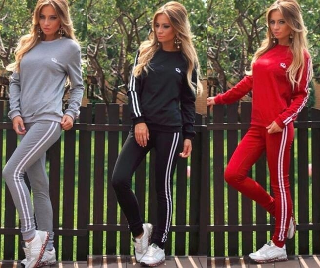 ZOGAA Hot Two Piece Set Women Tracksuit Patchwork Tracksuits Set Tops Suit Pants Casual Two-Piece Outfit Feminino Women Clothes Price $34.98