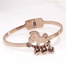 Fashion jewelry bracelet,Little Trojan bell rose gold bracelet,Ladies' accessories,Titanium steel accessories,