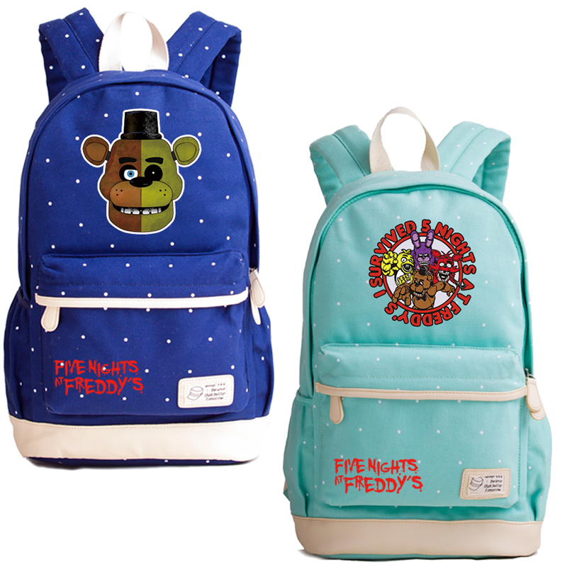 Horrific Game Five Nights At Freddy's Printing Backpack Canvas Men Backpack Cartoon Laprop Backpack Toy Freddy Rucksack