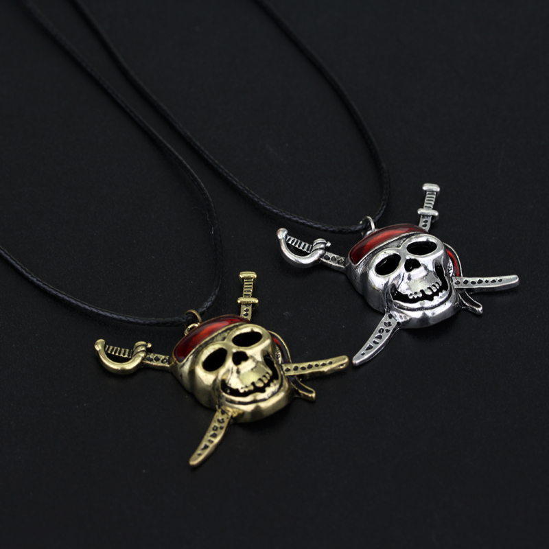 MQCHUN Movie Pirates Of The Caribbean Necklace Hot Sale Skull Pendant Jack Necklaces Fashion Jewelry Fans Gift-30