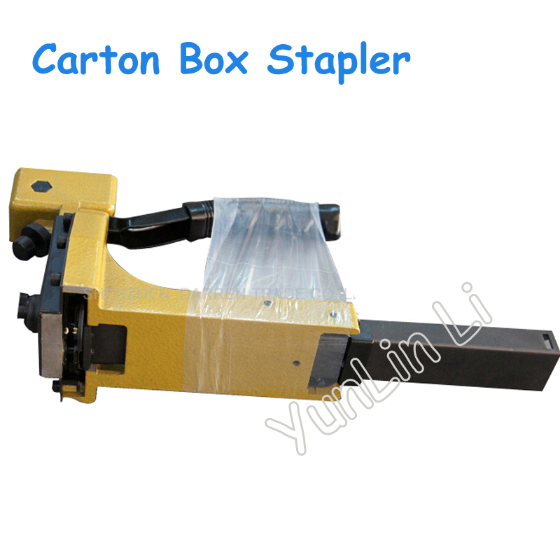 Manual Carton Box Stapler Nailer 1 3/8 Sealing Machine Closer for 16 18mm Staples HB3518