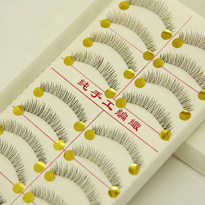 Hot Sale Natural Short Thick False Eyelashes Cross Lashes Mink Strip Black Wimpers Extension Beauty Makeup Set 216#