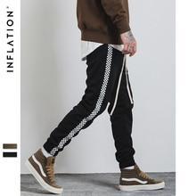 INFLATION 2017 Herbst Herren Sportswear Hosen Streifen Side Kontrast Farbe Brief Druck Highstreet Vintage Männer Jogginghose 349W17