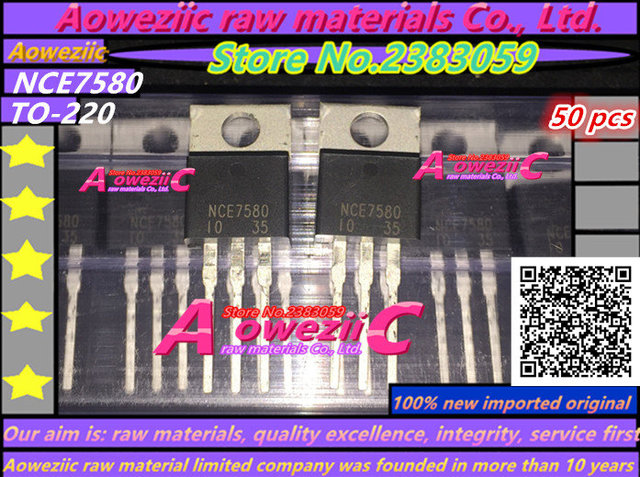 Aoweziic 100% nuovo originale importato NCE7580 7580 TO 220 transistor FET 75A 80 v