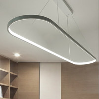 Modern Ellipse LED Pendant Light Dining Room Study Office Simple Suspension Hanging Lamp Nordic Bar Counter Droplight