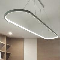 Modern Ellipse LED Pendant Light Dining Room Study Office Simple Suspension Hanging Lamp Nordic Bar Counter Droplight