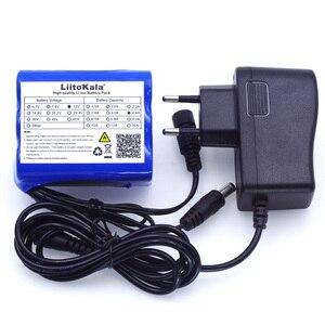 Image 1 - Liitokala 12 В 4,4 Ач 4400 мАч 18650 аккумуляторная батарея 12 В + PCB литиевая батарея, защитная плата + 12,6 В 1 а зарядное устройство