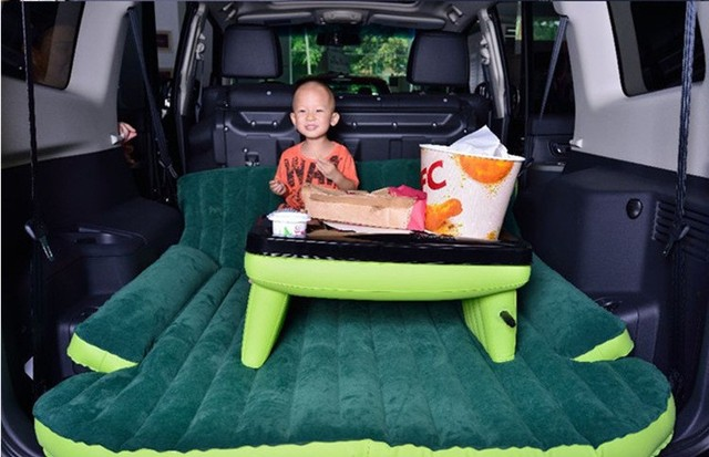 Suv Inflatable Mattress With Air Pump Travel Camping Car Back Seat