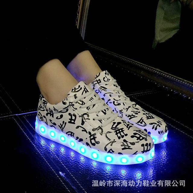 Usb recarregável led homens mulheres shoes com luminosa tênis brilhantes para meninos menina levou chinelos masculino feminino infantil