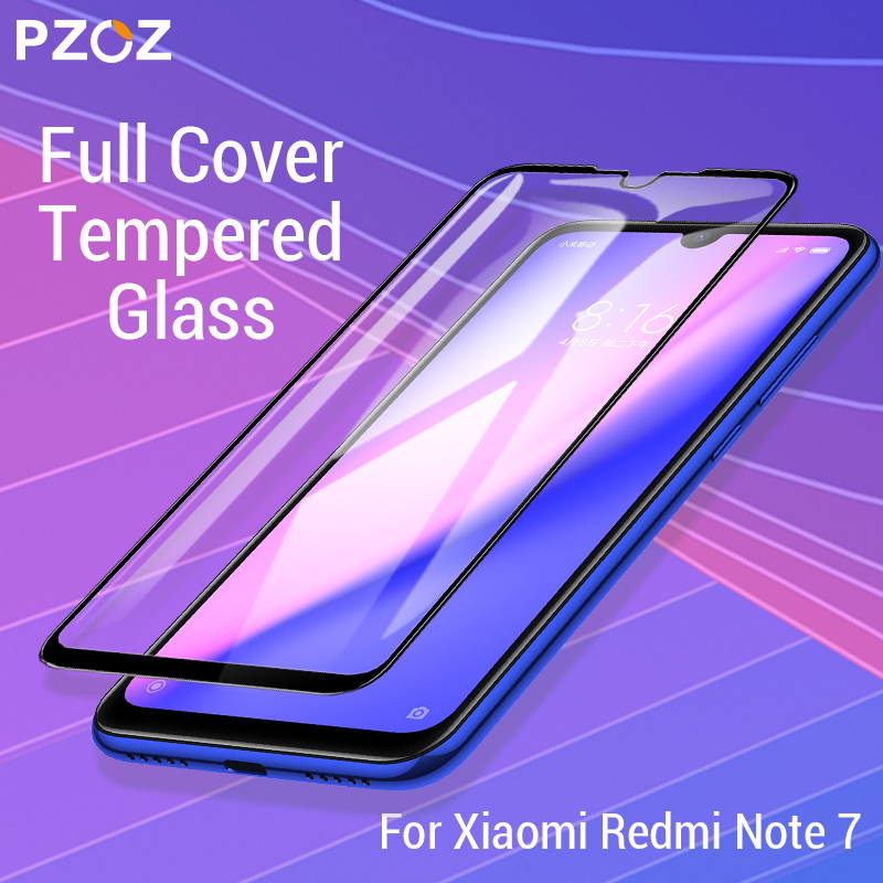 PZOZ For Xiaomi Redmi Note 7 Pro Screen Protector Full Cover Tempered Glass For Xiaomi redmi note 7 Mobile Phone Protective Film