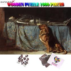 MOMEMO Il Fedele Pittura A Olio di Puzzle di Legno Puzzle di 1000 Pezzi Adulti di Puzzle Giocattoli Di Puzzle Di Puzzle 1000 Piezas Adulto Regali di Giocattoli