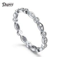 DUPUY Full Eternity 14K Solid White Gold Ring Vintage Bridal Wedding Band Art Deco Diamond Engagement Band Fine Jewelry Hot Sale
