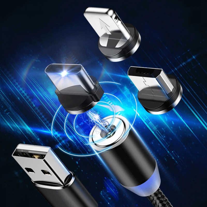 Più nuovo Cavo magnetica Per iphone/Micro USB/Tipo C Adattatore del Caricatore della Spina Per Il iphone Magnete Ricarica Veloce Telefoni cellulari e Smartphone cavi