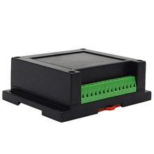 Instrument Din Rail Abs Plastic Electronics Diy Enclosures For Pcb Design Case +Clips +Screws