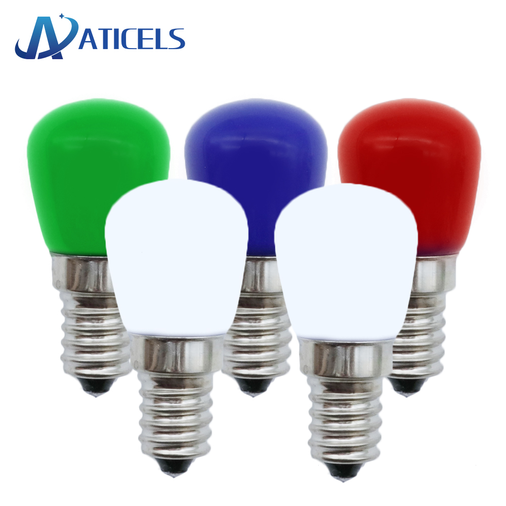 5PCS MINI 2W E14 LED Bulb AC 220V LED Lamp For Refrigerator Crystal Chandeliers Lighting White / Warm white / Red / Blue / Green