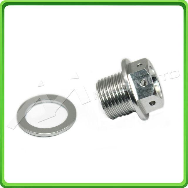 Magnético de Drenaje de Aceite De Sumidero Plug M16 x 1.5mm Perno de Drenaje de Aceite ajuste para BMW S1000RR 2009 2010 2011 2012 2013 2014 2015 PLATA