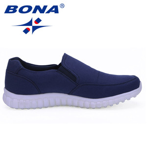 Image 5 - BONA New Typical Style Men Canvas Shoes With Elastic Band Men Footwear EVA Outsole Comfortable Shoes Light Fast Free Shipping