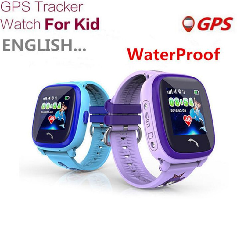 Waterproof GPS Tracker Watch For Kids Swim Touch Screen SOS Emergency Call Location Smart Watch Devices For Smart Phone App F17 2018 new gps tracking watch for kids waterproof smart watch v5k camera sos call location device tracker children s smart watch