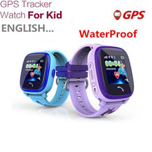 Waterproof GPS Tracker Watch For Kids Swim Touch Screen SOS Emergency Call Location Smart Watch Devices For Smart Phone App F17
