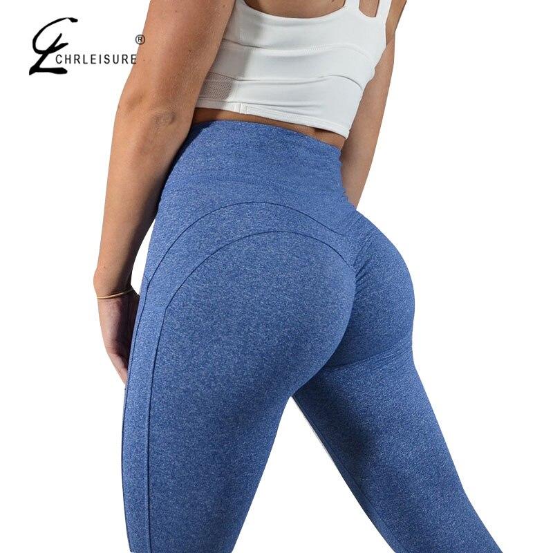 CHRLEISURE Mode Fitness Leggings Frauen Push Up Workout Leggins Solide Patchwork Leggings Mujer 2 Farbe