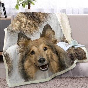 Image 3 - BlessLiving French Bulldog Sherpa Blanket on Bed Animal Dog Throw Blanket for Adult Brown Gray Bedding mantas para cama 150x200