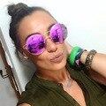 Mais recente Europa/América Retro Marca Designer Rodada Liga de Alta Qualidade óculos de Sol Dos Homens Das Mulheres de Rua Tirar Todos MatchSunglasses UV400