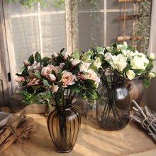 1PC 4colours Artificial Flower Gardenia for Wedding Home Party Garden Public Places Festival Celebrations Decor 47CM