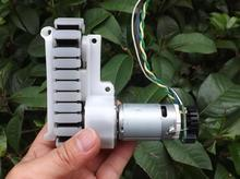 12V 90:1slow down  85RPM DC permanent magnet caterpillar chassis motor intelligent robot tank gear motor power sweeping robot