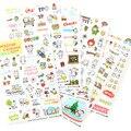 6 листов/комплект Корея petit cochon свинья милые прозрачные наклейки дневник декоративные наклейки