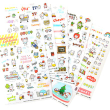 6 sheet set Korea petit cochon pig cute transparent stickers diary decorative stickers