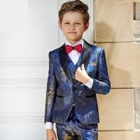 8 Pieces Children's Suit Boy's Dress Jacket Big Boys Piano Performing Flower Children's Suit jacket size 110 155 160 165 175