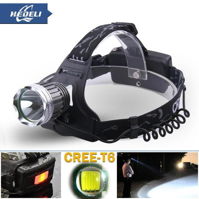 2015 New high power led headlamp headlamps rechargeable 2000 lumens cree xm l t6 head torch lamp lantern headlamp lot camping