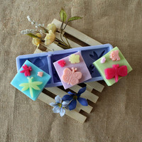 3 Cavities Butterfly Shaped Silicone Soap Molds Rectangle Bar Molds Beautiful Dragonfly Handmade Square Silicon Molds