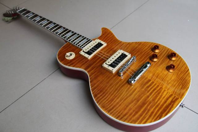 new arrival electric guitar slash signature guitar lp slash amber