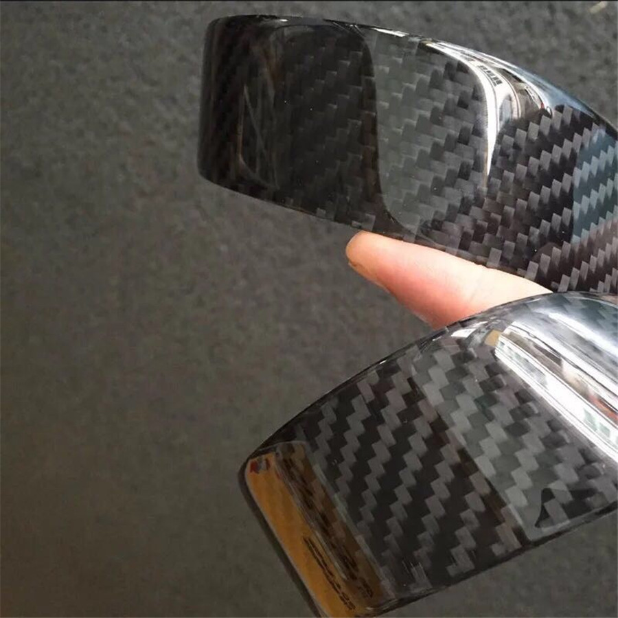 4pcs Carbon Fiber 25cm+48cm Car Scuff Plate Door Sill Cover Panel Step Protector